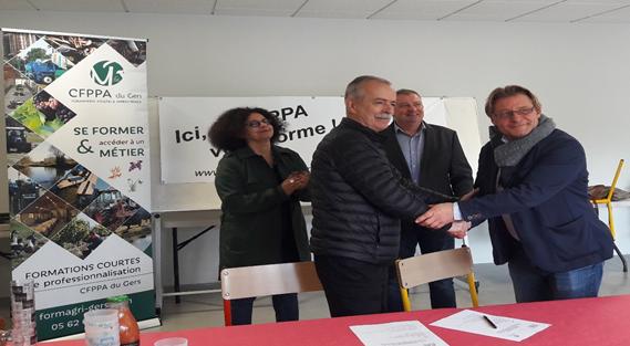Signature de la convention de partenariat 3CAG - CFPPA du Gers