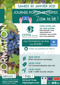 formation viticulture eonologie CFPPA Gers