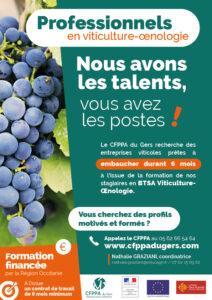 BTSA Viticulture œnologie emploi gers